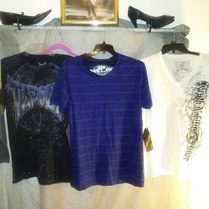 SET OF 3 GRAPHIC TEES HELIX/EXPRESS/TAP
